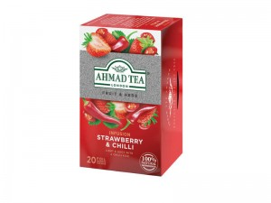 Herbata Ahmad Tea Strawberry & Chilli 20x1,8g - owocowa z truskawkami i chilli