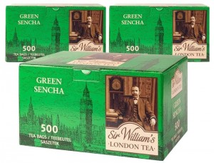 Herbata Sir William's London Green Sencha 500x1,5g  x 3 - 1500 saszetek