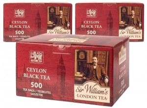 Herbata Sir William's London Tea Ceylon 500x1,8g x 3 - 1500 saszetek