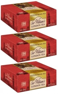 Herbata Sir William's London Tea Ceylon 100x1,8g x 3 - 300 saszetek