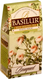 Herbata Basilur Bouquet White Magic Green kartonik 100g - milk oolong - herbata turkusowa