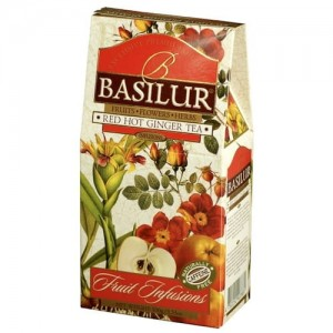 Herbata Basilur Fruits Infusions Red Hot Ginger 100g - owocowa z papają i imbirem