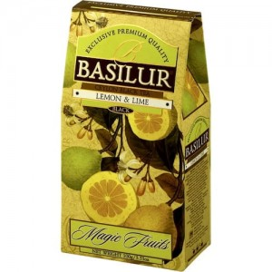 Herbata Basilur Magic Fruits Lemon & Lime 100g - czarna cytrusowa
