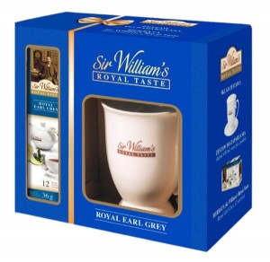 Zestaw Sir William's Royal Taste Earl Grey 12x3g z kubkiem Royal na stopce