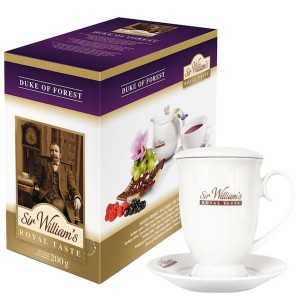 Herbata Sir William's Royal Taste Duke of Forest 50x4g - herbatka owocowa i biały kubek gratis