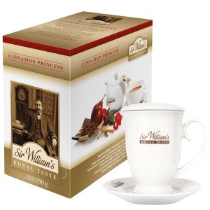 Herbata Sir William's Royal Taste Cinnamon Princess 50x3g - herbatka owocowa z rooibosem i kubek 400 ml