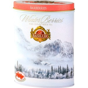 Herbata Basilur  Winter Berries Barberries puszka 100g  - czarna o smaku berberysu