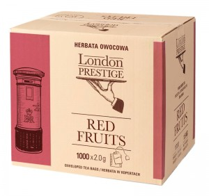 Herbata London Prestige Red Fruits 1000x1,5g - dla biur i kateringu