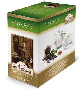 Herbata Sir William's Royal Taste Green Kingdom 50x2,5g - czysty chiński gunpowder