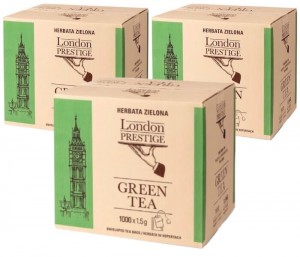 Herbata London Prestige Green Tea 1000x1,5g x 3 - 3000 saszetek
