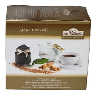 Herbata Sir William's Royal Taste King of Ceylon 50x3g - czysta herbata cejlońska z regionu Kandy