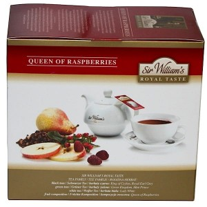 Herbata Sir William's Royal Taste Queen of Raspberries 50x4g - herbata malinowa, z jabłkami, hibiskusem i dziką różą