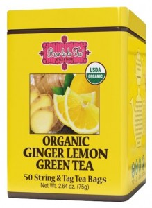 Herbata Brew la la Tea Organic Ginger Lemon Green 50x1,5g