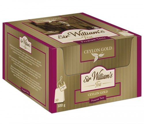 Herbata Sir William's Ceylon Gold 50x2g - czysta czarna